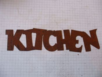 Rusty Tin 'KITCHEN' Sign Plaque